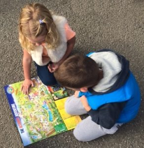 Planning our day at Lightwater Valley Theme Park