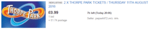 Thorpe Park Tickets from 99p