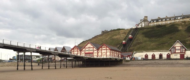 Saltburn-Cliff-Tramway-View-From-the-Beach